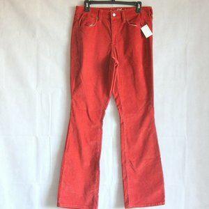 Universal Thread Jeans Orange Red Corduroy 14W 26W